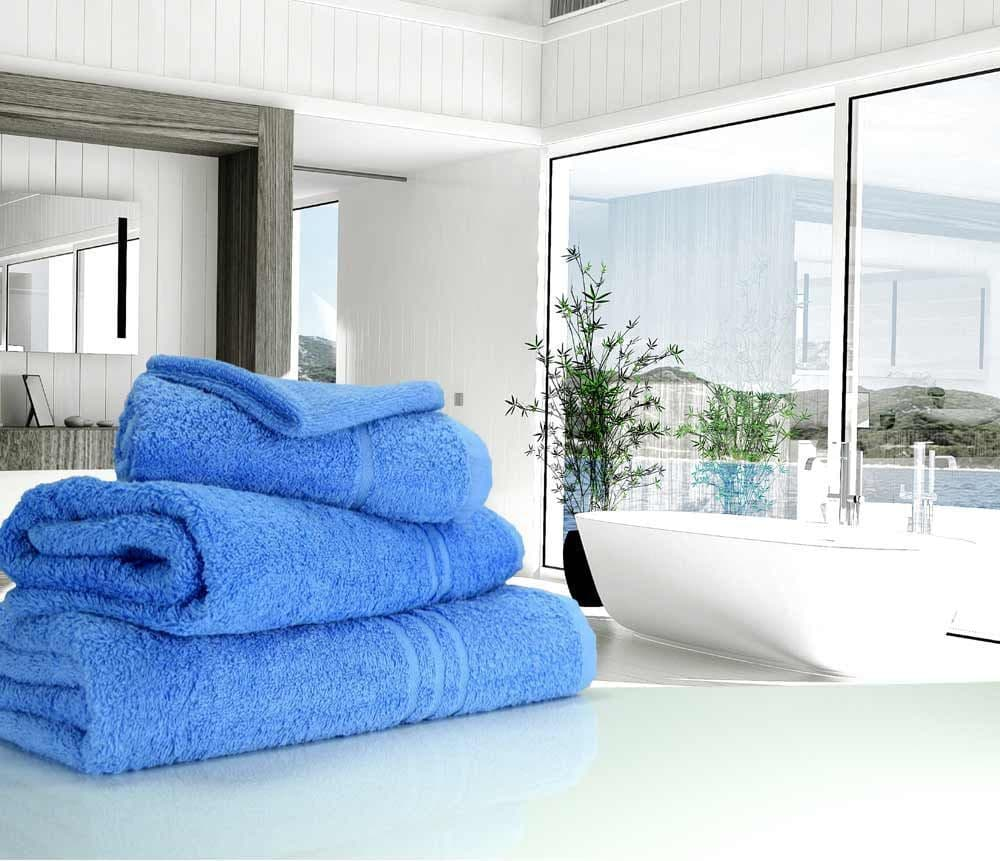 Great Quality Blue Label, 500gsm Bath Sheet in Med Blue