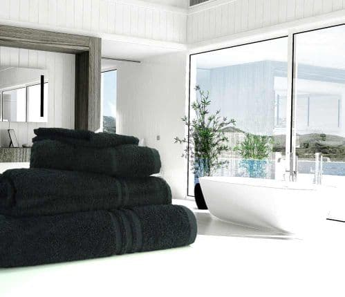 Great Quality Blue Label, 500gsm Bath Towel in Black