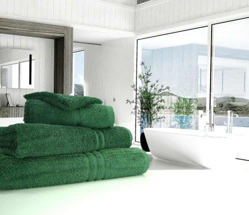 Great Quality Blue Label, 500gsm Bath Towel in Bottle Green