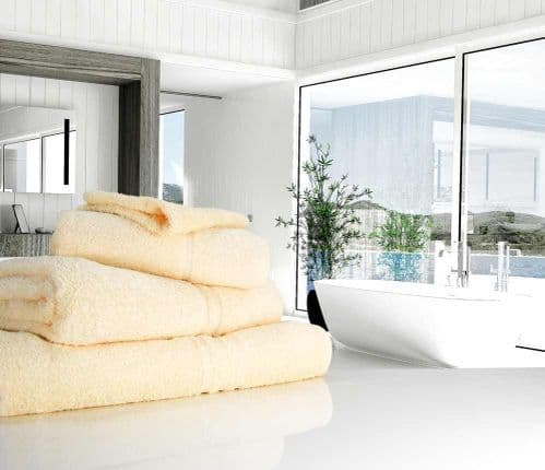 Great Quality Blue Label, 500gsm Bath Towel in Cream