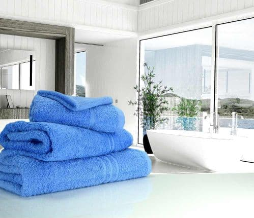 Great Quality Blue Label, 500gsm Hand Towel in Med Blue