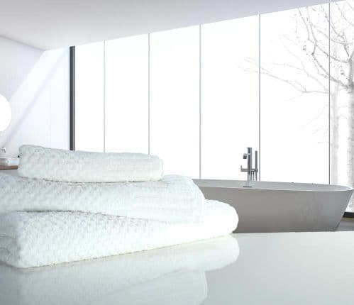 linenHall Spa, 450gsm Terry Waffle Spa Extra Long Bath Sheet White