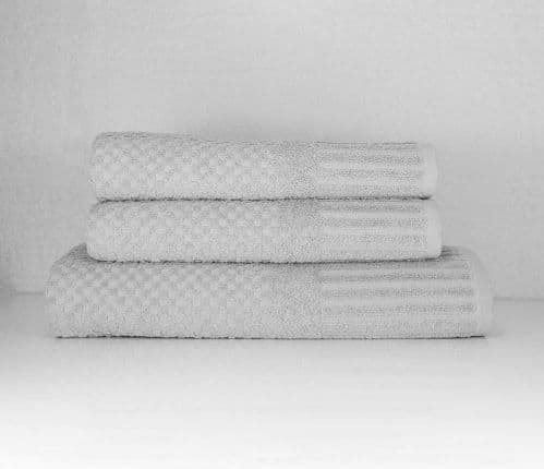 linenHall Spa, 450gsm Terry Waffle Spa Hand Towel Silver Grey