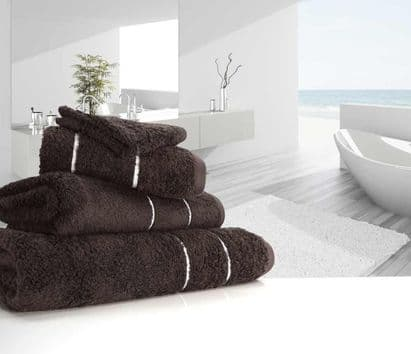 "linenHall ""Ultimate"" 700gsm Dark Chocolate Hand Towel 50cm x 90cm"