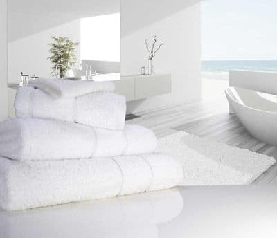 "linenHall ""Ultimate"" 700gsm White Bath Sheet 100cm x 170cm"