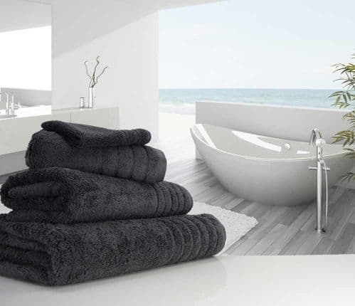 Luxurious linenHall, 650gsm Bath Sheet in Charcoal