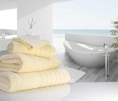 Luxurious linenHall, 650gsm Bath Sheet in Cream