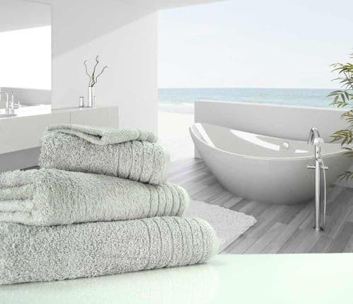 Luxurious linenHall, 650gsm Bath Sheet in Silver Grey