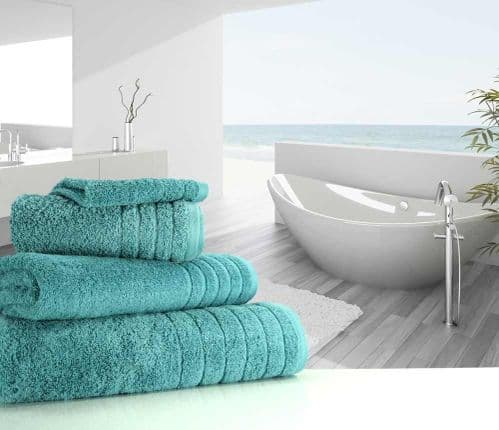 Luxurious linenHall, 650gsm Bath Sheet in Teal