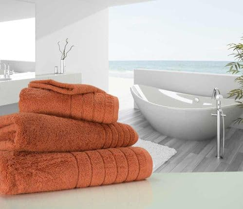 Luxurious linenHall, 650gsm Bath Sheet in Terracotta