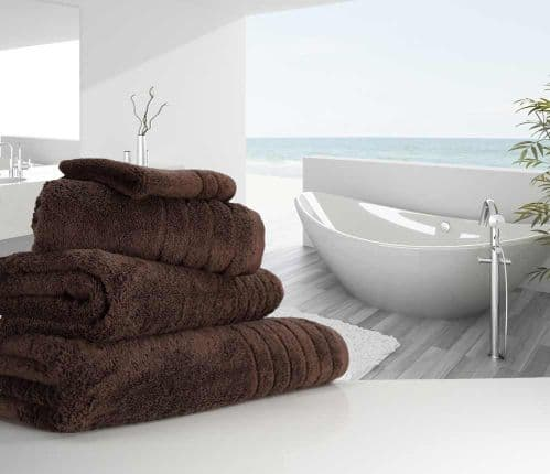 Luxurious linenHall, 650gsm Bath Towel in Chocolate