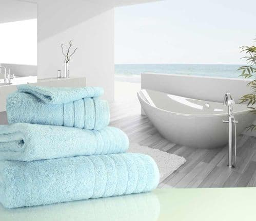 Luxurious linenHall, 650gsm Bath Towel in Duck Egg Blue