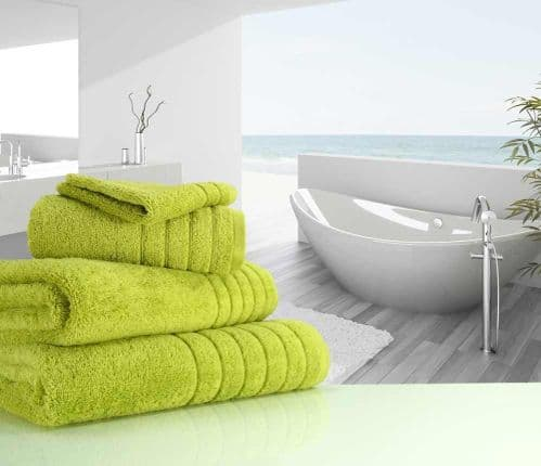 Luxurious linenHall, 650gsm Bath Towel in Sea Grass