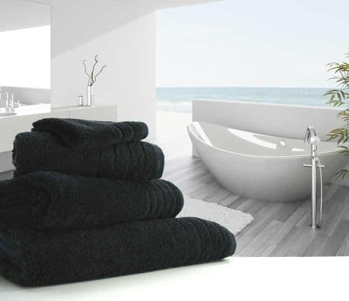 Luxurious linenHall, 650gsm Hand Towel in Black