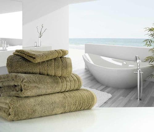Luxurious linenHall, 650gsm Hand Towel in Mocha