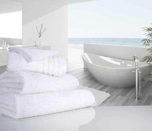 Luxurious linenHall, 650gsm Hand Towel in White
