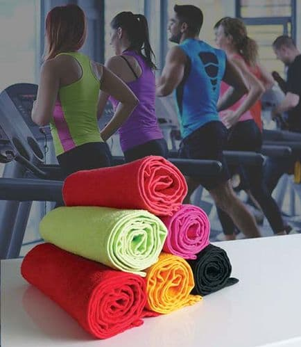 Luxury Micro-Cotton Gym Towel 30cm x 140cm in Coral