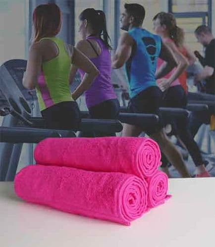Luxury Micro-Cotton Gym Towel 30cm x 140cm in Hot Pink