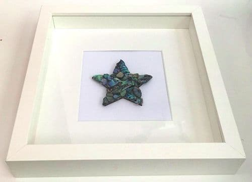 Box Frame Art - Paua Mosaic Star