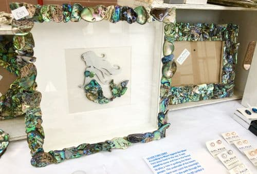 Box Frame Art Special - Paua Mosaic Mermaid