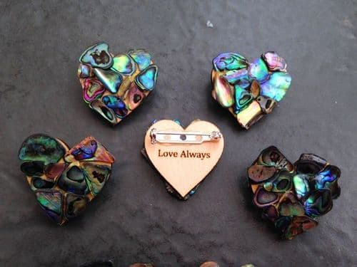 Brooch - Mosaic Heart - small 3cm