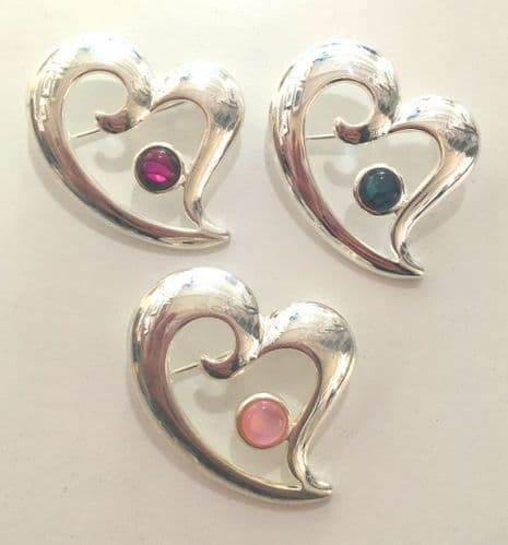 Brooch - Mother of Pearl Pink - Heart - 3cm