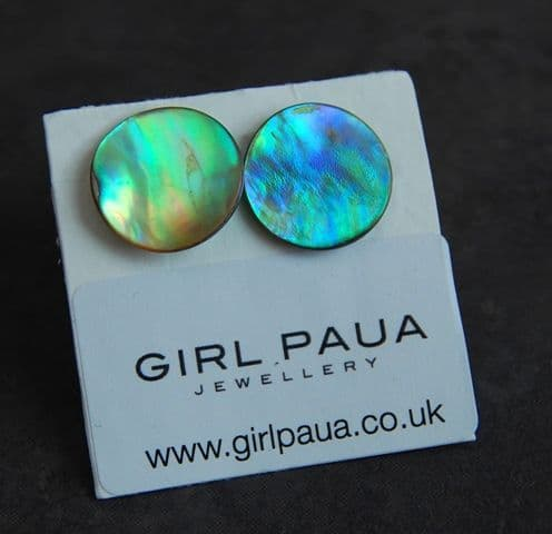 Cufflinks - Paua Natural Circle