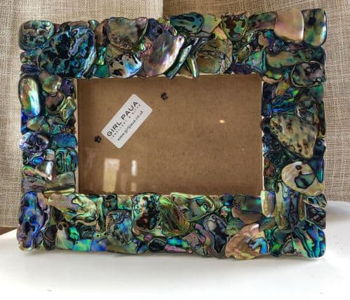 "Frame - Paua Mosaic Rectangle 7""x5"""