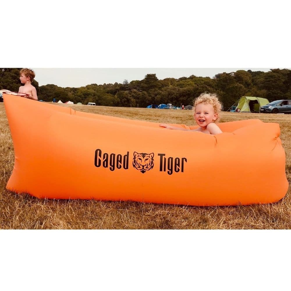 Caged Tiger Inflatable Camping Lounge Chair