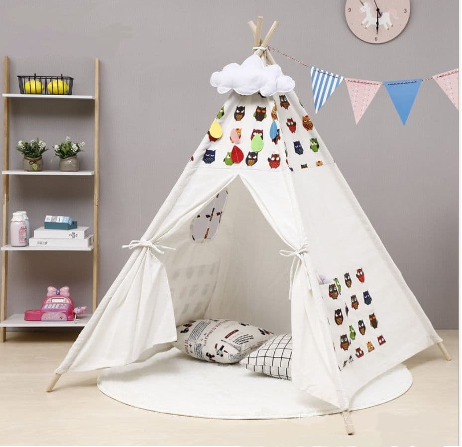 Caged Tiger Owl Print Teepee Tent