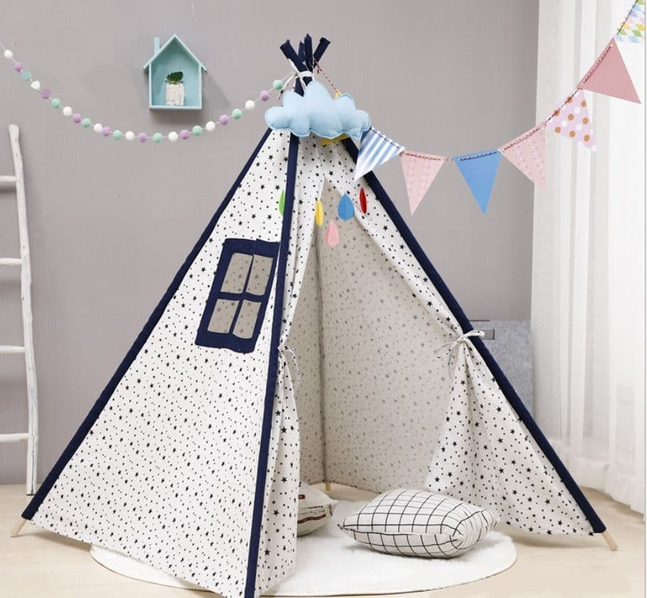 Caged Tiger Star Print TeePee Tent