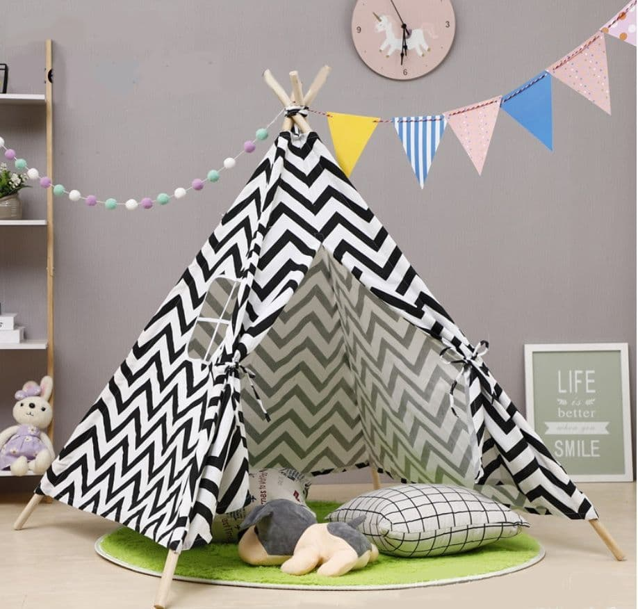 Caged Tiger Wave Print Teepee Tent