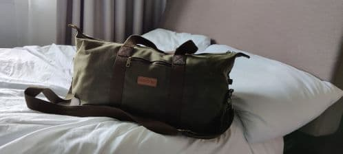 Caged Tiger Waxed Canvas Holdall