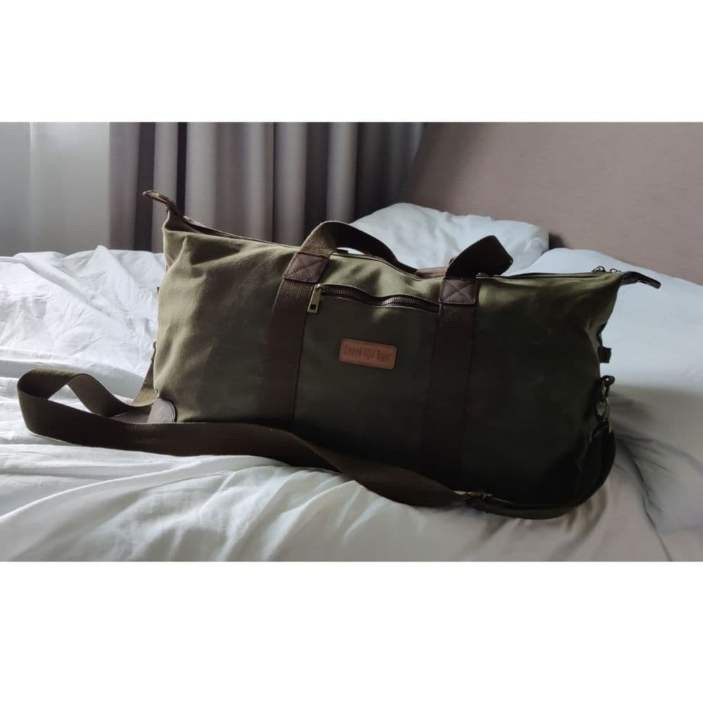Caged Tiger Waxed Canvas Holdall Bag