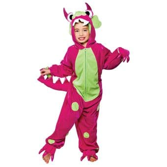 MINI MONSTER PINK AND GREEN SPOT ALL IN ONE COSTUME