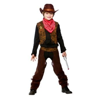 WILD WEST COWBOY BOYS FANCY DRESS COSTUME