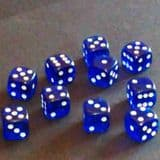 12mm Gem Spot Dice - Blue