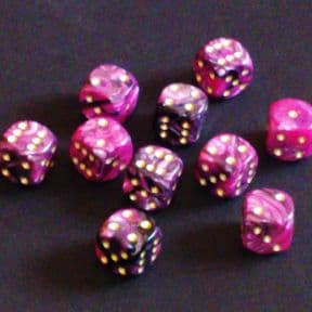 12mm Toxic Spot Dice - Pink / Black