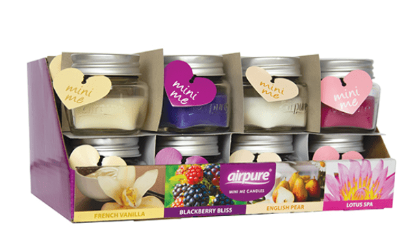 Airpure Mini Candle Display Floral Collection 1x24