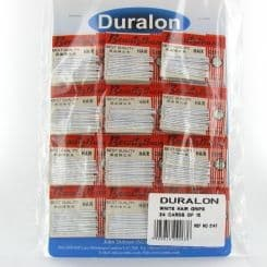 Duralon White Hair Grips