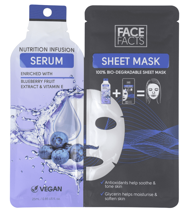 Face Facts Face Serum Sheet Mask Nutrition Infusion