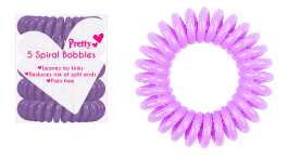 Pretty Spiral Bobbles Purple