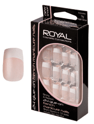 Royal Nail Tips French Manicure 1x6