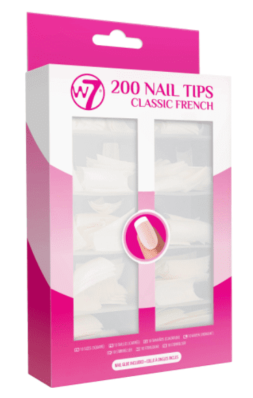 W7 200's Nail Tips Classic French