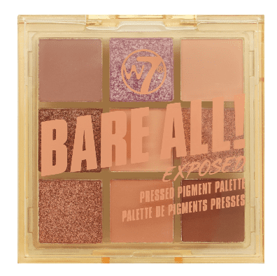 W7 Bare All! Pressed Pigment Palette Exposed