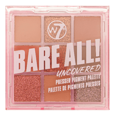 W7 Bare All! Pressed Pigment Palette Uncovered